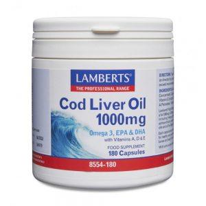 Lamberts Cod Liver Oil 1000mg