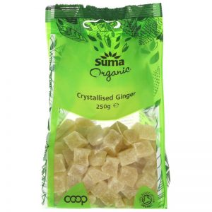 Organic crystallised Ginger