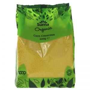Organic corn couscous