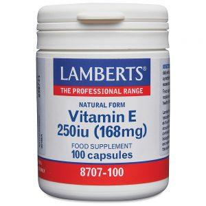 Lamberts Natural Form Vitamin E 250iu