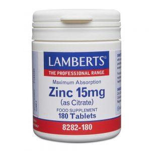 Lamberts Zinc 15mg (as Citrate)
