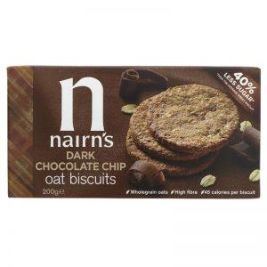Dark Choc Chip Oaty Biscuits